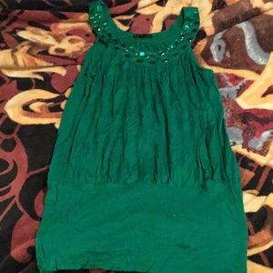Forever 21 Green Jewel Tunic